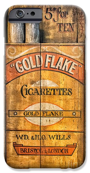 Texture iPhone Cases - Gold Flake iPhone Case by Adrian Evans