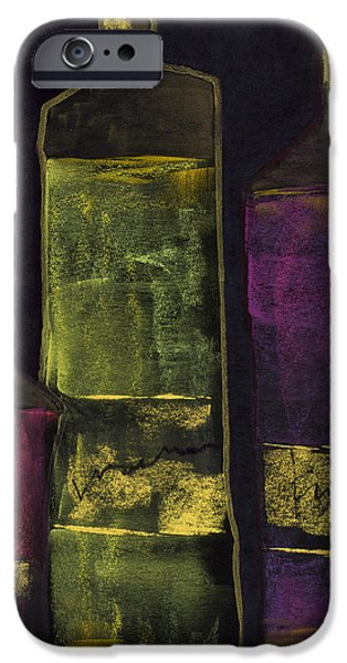 Red Wine Pastels iPhone Cases - Gold Label iPhone Case by Diana Wade