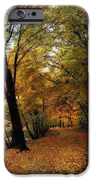 Autumn Foliage Photographs iPhone Cases - Golden Carpet iPhone Case by Jessica Jenney