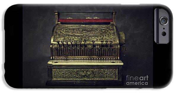 Business Photographs iPhone Cases - Golden Cash Register iPhone Case by Edward Fielding