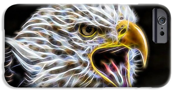 Birds iPhone Cases - Golden Eagle Collection iPhone Case by Marvin Blaine