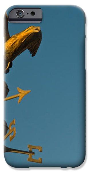 Golden Eagle Weather Vane iPhone Case by Douglas Barnett