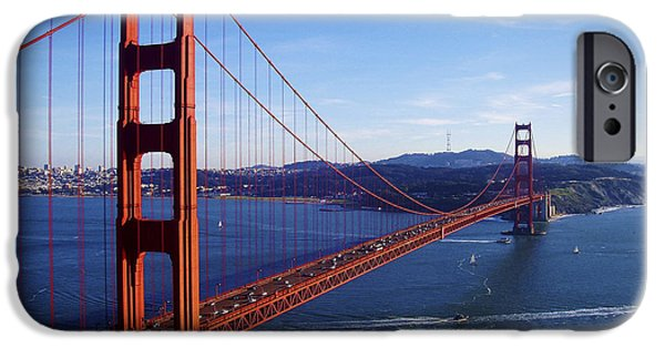 Bay Bridge iPhone Cases - Golden Gate Afternoon iPhone Case by Brian Tada