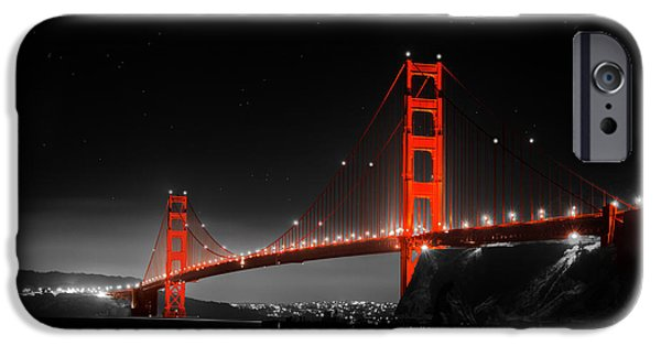 Sausalito iPhone Cases - Golden Gate Bridge iPhone Case by Bryant Coffey