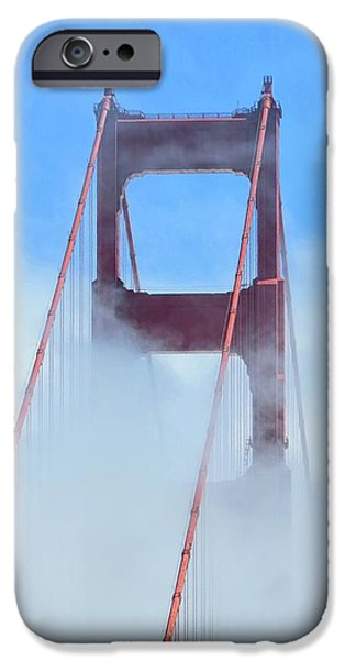 Bay Bridge iPhone Cases - Golden Gate Bridge iPhone Case by Connor Beekman