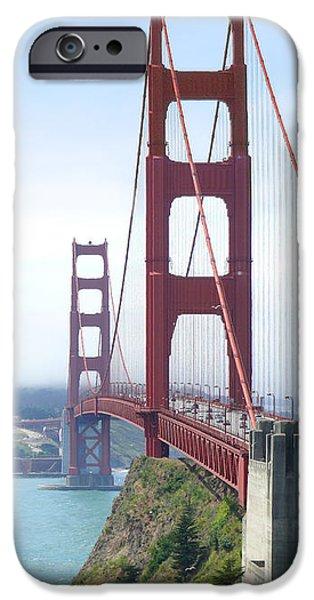 Landmark Digital iPhone Cases - Golden Gate Bridge iPhone Case by Mike McGlothlen