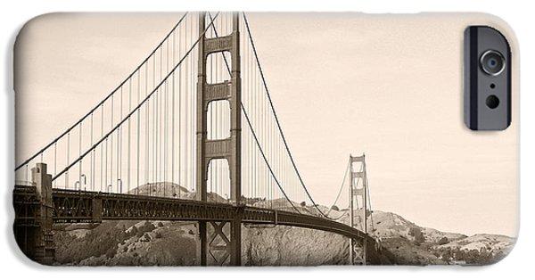 Famous Bridge iPhone Cases - Golden Gate Bridge San Francisco - A thirty-five million dollar steel harp iPhone Case by Christine Till