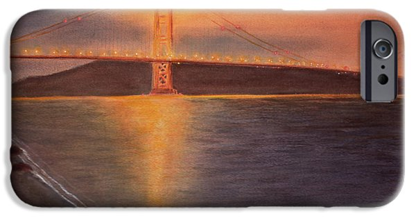 Alcatraz iPhone Cases - Golden Gate Bridge San Francisco iPhone Case by Ken Figurski