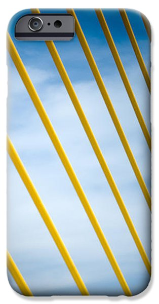 Blue Abstracts iPhone Cases - GOLDEN GLOW of TAMPA iPhone Case by Karen Wiles