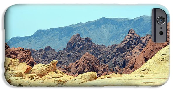 Red Rock Tapestries - Textiles iPhone Cases - Golden Ground iPhone Case by Edna Weber