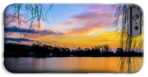 Willow Lake iPhone Cases - Golden Hour iPhone Case by Esther Kather