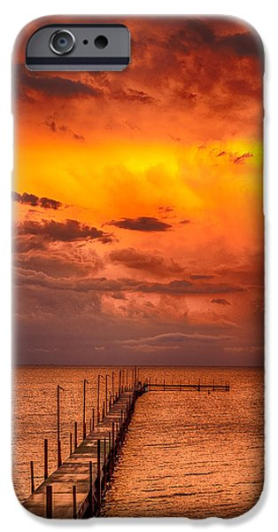 Interior Scene iPhone Cases - Golden Hour On Lake Milacs iPhone Case by Paul Freidlund