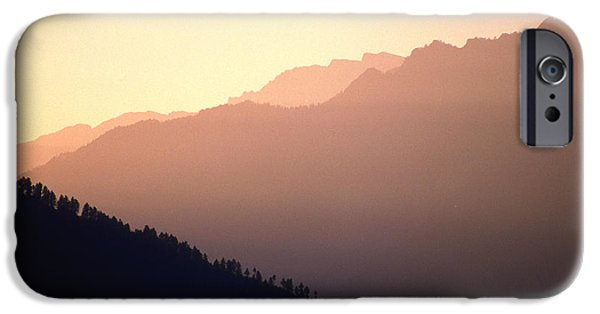 Mountains iPhone Cases - Golden Mountains iPhone Case by Patrick Klauss