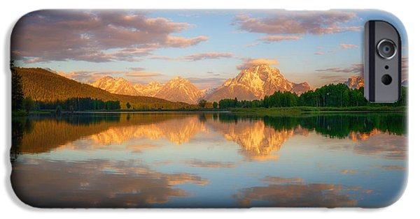Moran iPhone Cases - Golden Oxbow Light iPhone Case by Darren  White