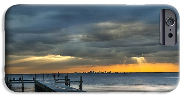 United States iPhone Cases - Golden Rays iPhone Case by Norman Johnson