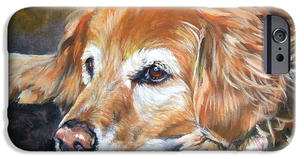 Puppies iPhone Cases - Golden Retriever Senior iPhone Case by Lee Ann Shepard
