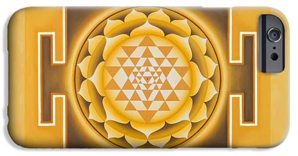 Sacred iPhone Cases - Golden Sri Yantra - The Original iPhone Case by Piitaa - Sacred Art