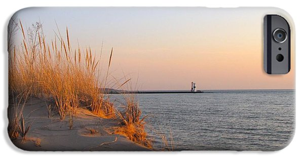 Recently Sold -  - Pastel iPhone Cases - Golden Sunset over Lake Michigan  iPhone Case by Jane Greiner