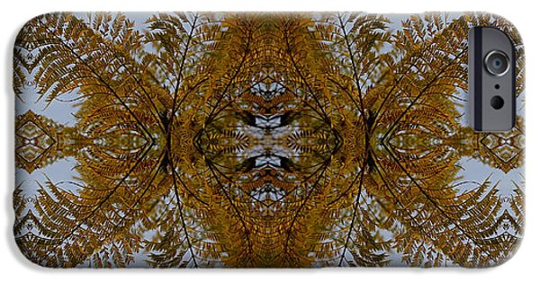 Abstract Digital Photographs iPhone Cases - Goldengreen Treeleaf Lacework iPhone Case by Daniel Unfried