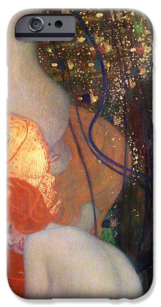 Art Nouveau iPhone Cases - Goldfish iPhone Case by Gustav Klimt