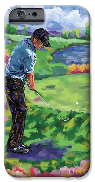 Tom Hagen iPhone Cases - Golf 3 iPhone Case by Tim Gilliland