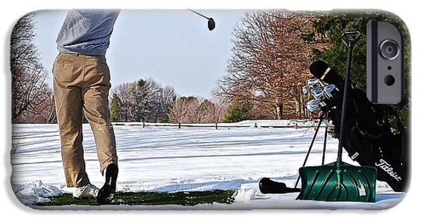 Professional Golf iPhone Cases - Golf My Way iPhone Case by Frozen in Time Fine Art Photography