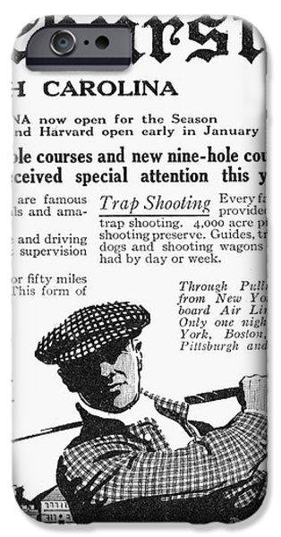 GOLF: PINEHURST, 1916 iPhone Case by Granger