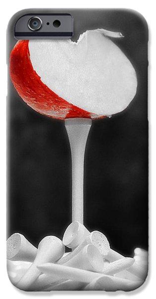 Frustration iPhone Cases - Golf Slice Still Life iPhone Case by Tom Mc Nemar