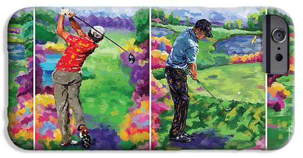 Tom Hagen iPhone Cases - Golfer all 4 iPhone Case by Tim Gilliland