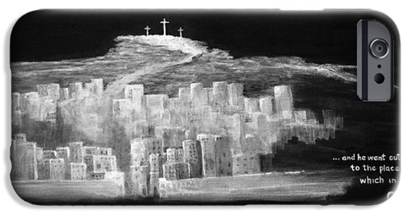 Crucifixtion iPhone Cases - Golgatha iPhone Case by William Walts