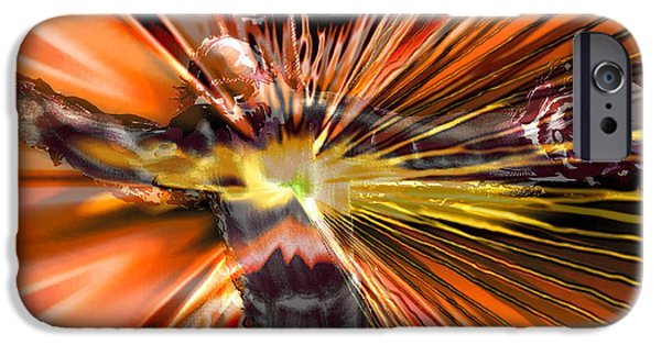 Jesus Drawings iPhone Cases - Golgotha iPhone Case by Seth Weaver