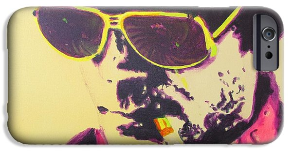Colorado Drawings iPhone Cases - Gonzo - Hunter S. Thompson iPhone Case by Eric Dee