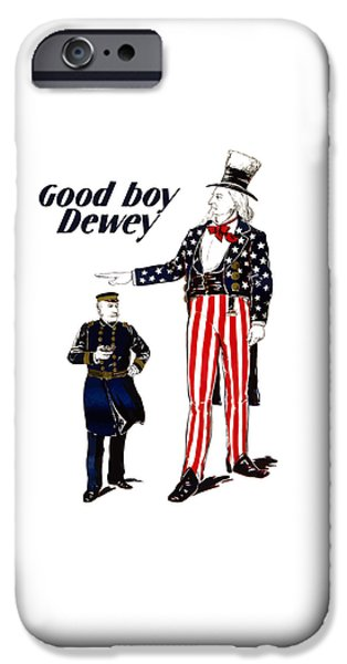 George Digital iPhone Cases - Good Boy Dewey iPhone Case by War Is Hell Store