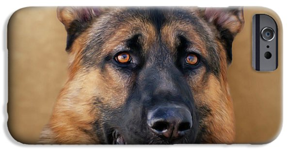 Alsatian iPhone Cases - Good Boy iPhone Case by Sandy Keeton