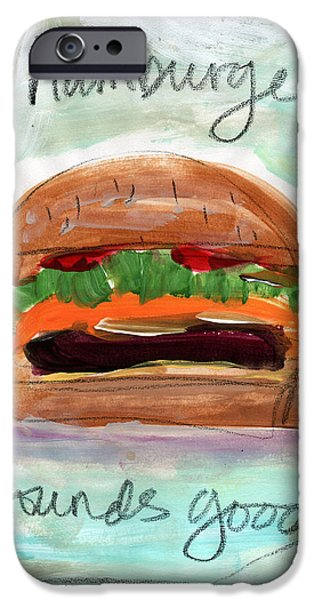 Diners iPhone Cases - Good Burger iPhone Case by Linda Woods