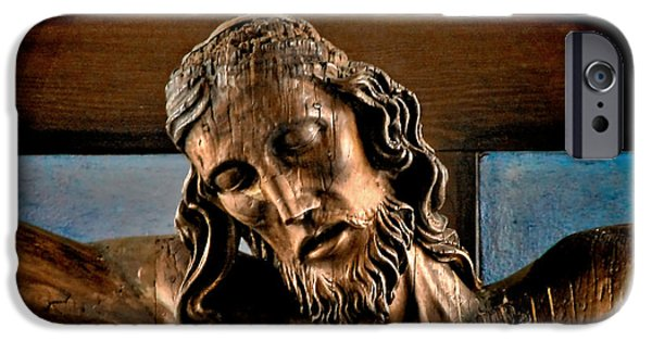 Sadness iPhone Cases - Good Friday Jesus on the Cross iPhone Case by Christine Till