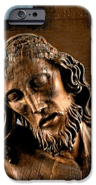Good Friday Jesus on the Cross iPhone Case by Christine Till