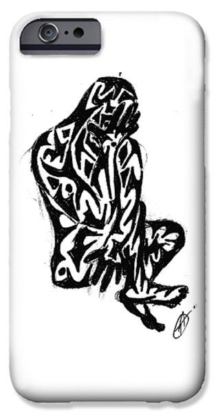 Abstract Digital Drawings iPhone Cases - Good Greif iPhone Case by AR Teeter