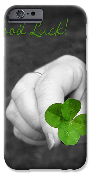 Good Luck iPhone Case by Kristin Elmquist