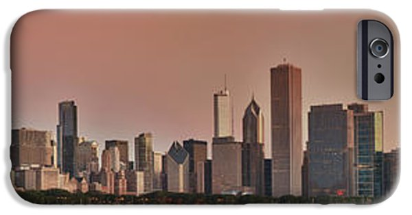 Sears Tower iPhone Cases - Good Morning Chicago Panorama iPhone Case by Sebastian Musial