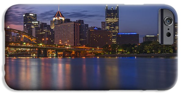 Roberto iPhone Cases - Good Morning Pittsburgh iPhone Case by Rick Berk