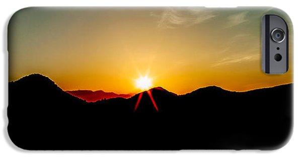 Setting Sun iPhone Cases - Good Morning Sunshine iPhone Case by Az Jackson