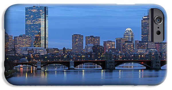 City. Boston iPhone Cases - Good Night Boston iPhone Case by Juergen Roth