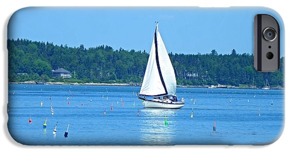 Sailboat Ocean iPhone Cases - Good Sailing iPhone Case by Lisa Gilliam