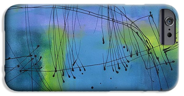Modern Abstract iPhone Cases - Good Vibrations Three iPhone Case by Louise Adams