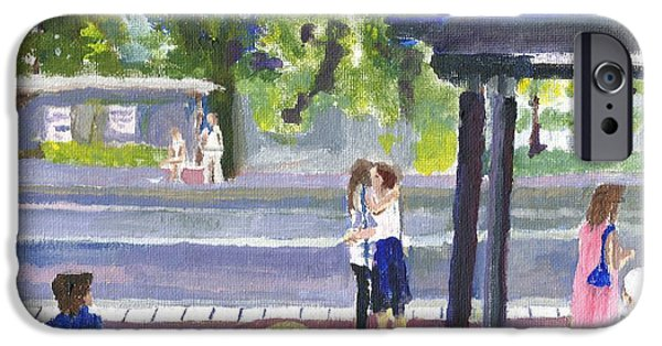 Virtual iPhone Cases - Goodbye Kiss in Gothenburg Sweden iPhone Case by Paul Thompson