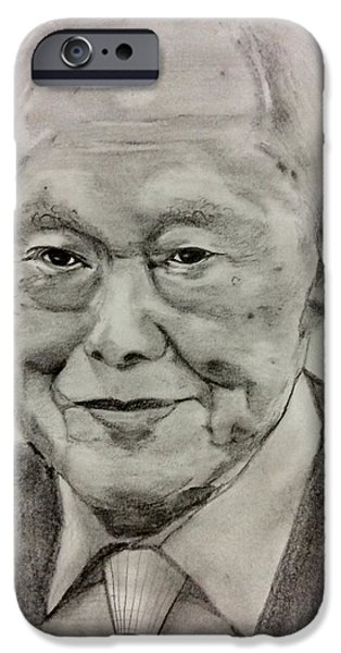 Politician iPhone Cases - Goodbye Mr Lee Kuan Yew iPhone Case by Aarti Bartake