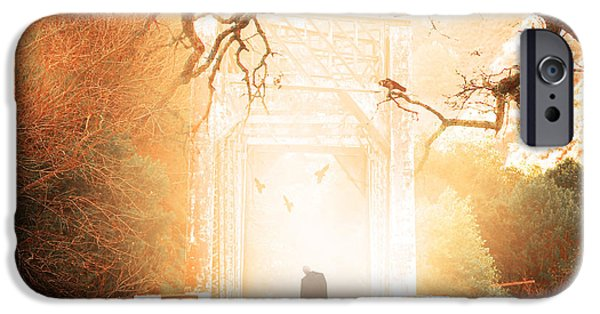 Supernatural Digital Art iPhone Cases - Goodbye My Friend Its Hard to Die 7D10745c82 square iPhone Case by Wingsdomain Art and Photography
