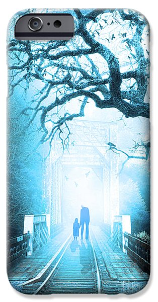 Supernatural Digital Art iPhone Cases - Goodbye My Friend Its Hard to Die 7D10745c82 iPhone Case by Wingsdomain Art and Photography