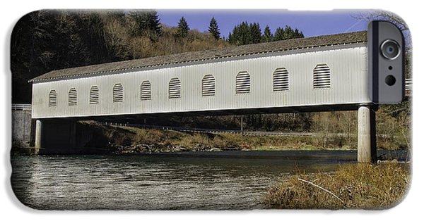 Covered Bridge iPhone Cases - Goodpasture Bridge iPhone Case by Tim Moore